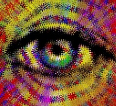 Eye #27 (Baky) Tags: eye art colors japan eyes neon pattern artistic vibrant jesus kitsch psychedelic wacky iphone wowiekazowie iphoneography barkyvision baky
