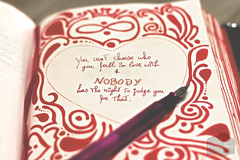 Nobody can judge you ( Black Orchid ) Tags: red love pen writing handwriting canon eos heart text journal 550d nobodycanjudgeyou