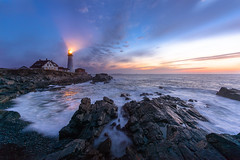 PortlandHeadSunrise (Mike Mezeul II Photography) Tags: ocean lighthouse seascape sunrise portland nikon elizabeth head maine shoreline filter shore lee cape wavers