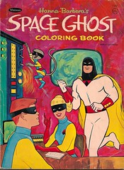 Space Ghost Coloring Book (Whitman 1967) (Donald Deveau) Tags: cartoon spaceghost tvshow whitman coloringbook hannabarbera alextoth 1960stv