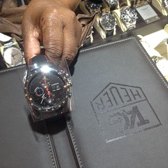 Having a look at some watches.