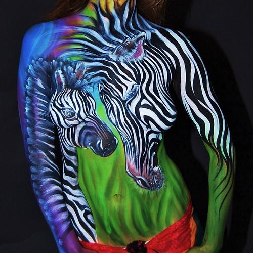 Zebra Body Art Endangered Species Series Zebra Endangeredanimals Ecoart Environmental Awareness Bodyart Bodypaint Safari Stripes Blackandwhite Africa Mommyandbaby Love Wwf Lovetheanimals Oneness Wildandfree Animalart Tattoos A