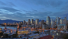 Canada - Vancouver - False Creek, Burrard Bridge (Harshil.Shah) Tags: bridge blue canada vancouver creek evening bc columbia hour british burrard false