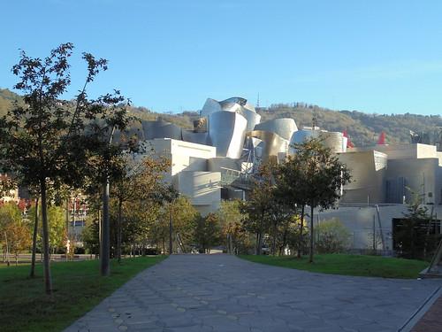 Llegando al Guggenheim Bilbao