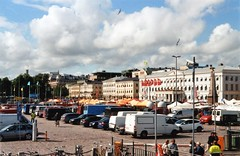 Helsinki II (ture360) Tags: sky finland helsinki marketplace canonae1 fuji200 kauppatori canonfd50mmmacrof35ssc