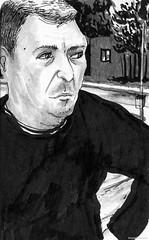 2014_MD_BALKANS_BOSNIE_OLOVO_EOLO_1 (idrawamerica) Tags: trip blackandwhite man bus men beach cafe map sarajevo bosnia rosa croatia kosovo balkans rovinj calimero istria vise balkan eolo olovo
