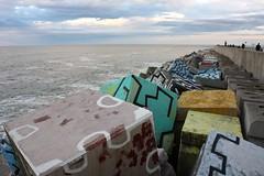 Cubes of Memory / Cubos de la Memoria, Llanes (Trevor.Huxham) Tags: sunset art atlantic ocean llanes asturias spain canonefs1855mmf3556is canoneosrebelxs