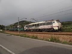251 (firedmanager) Tags: train tren asturias locomotive freight mitsubishi locomotora freighttrain renfe trena 251 mercancías bobinero railtransport renfeoperadora renfemercancías villabonadeasturias