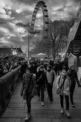 The London Eye (JyHowse) Tags: bw fuji streetphotography fujinon 18mm f20 xe1