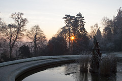 Ice and fire (- MH -) Tags: france sunrise soleil jardin laval feu glace lever nouvelan perrine mayenne 2015