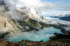 780158158187244 (alleyntegtmeyer7832) Tags: travel blue lake canada mountains tourism nature fog america landscape rockies hiking north rocky alberta banff peyto