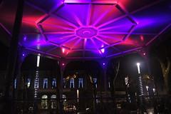 Kiosque à musique et Hôtel de Ville (ChevillonW) Tags: christmas colors night square lights place couleurs napoleon noël napoléon vendée larochesuryon