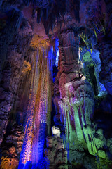 DSC07557 Guilin, China: Reed Flute Cave (wanderlust  traveler) Tags: china color reed water rock stone underground guilin flute formation cave stalagmite stalactites