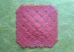 Clover Folding Variation - Shuzo Fujimoto (MihaelaEudaimonia) Tags: flowers paper grid origami handmade clover tessellation variation folding glassine fujimoto shuzo