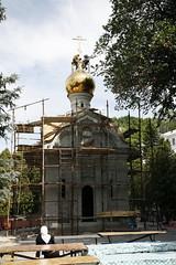 190. Освящение и подъем креста на часовню прпп. Арсения и Германа 2009 г