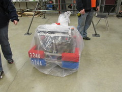 """The robot all bagged and tagged- ready to go <a style=""""margin-left:10px; font-size:0.8em;"""" href=""""http://www.flickr.com/photos/130775292@N07/16165544867/"""" target=""""_blank"""">@flickr</a>"""