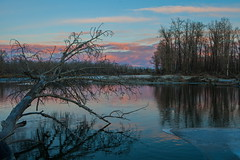 N.A.N.R. (stevenbulman44) Tags: park winter sunset cloud color reflection tree water canon landscape bowriver 2470f28l