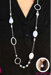 5th Avenue White Necklace K1A P2610A-3