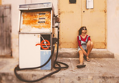 Raiders of the Maltese Falcon (Chapter Twelve: No fuel at the gas station) (Sator Arepo) Tags: old canon sitting machine rusty malta victoria gas gasstation boring 5d resting 24mm fuel tse gozo markii fillingstation