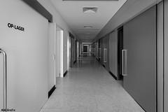 clean corridor (MMGrafix) Tags: white black monochrome hospital clinic