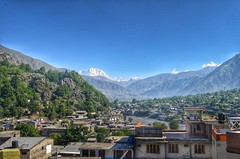 Chitral City with Terich Mir Peak in the background (Emaad Paracha) Tags: festival fort top pass mosque valley mir dir kalash shahi mardan chitral malakand lowaripass lowari terich bumburet lowaritop timergara chilimjusht