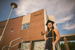 (Michael Mendonca) Tags: people sun colors buildings reflections fun happy 50mm spring nikon different place theatre bokeh f14 thing creative prism sigma flare 24mm drill ucf 2016 universityofcentralflorida ucfgraduation schoolofperformingarts graduation2016