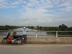 MeKong Delta, Vietnam (relsham) Tags: road bridge water river landscape delta vietnam motorcycle mekongdelta