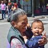 San Francisco Chinatown - Grandma and baby (stevelamb007) Tags: sanfrancisco california baby smiling happy nikon chinatown grandmother streetscene nikkor18200mm d7200