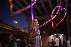 (charlottedabb) Tags: girl fashion youth night photoshop 3d neon edited sydney sunny australia panasonic blonde indie comingofage queenalla