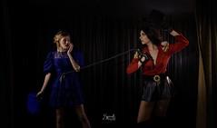 """The Circus"" with M&M fashion bites (SpirosK photography) Tags: portrait fashion marina costume photoshoot circus maria athens greece whip acrobat whiterabbit ringmaster    spiroskphotography mmfashionbites"
