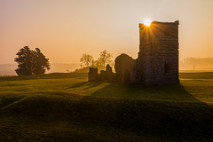 Sunrays over Knowlton (Anthony White) Tags: old history abandoned church misty fog sunrise ruins frost decay knowlton henge sonyalpha neolithichenge
