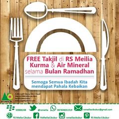 Selamat #takjilfree #puasa #ibadah #ramadhan #sehat #rsmeilia #cibubur #depok #cileungsi #bekasi #bogor #jakarta (yudhihertanto1) Tags: rsmeilia bogor cileungsi bekasi ramadhan jakarta sehat takjilfree cibubur ibadah depok puasa