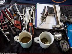 2015 Spa Six Hours: Mechanic's desk (8w6thgear) Tags: coffee tea tools spa paddock 2015 spafrancorchamps spasixhours