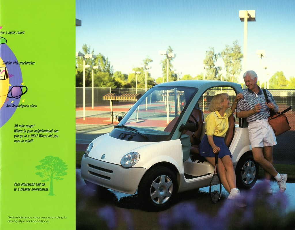 1997 Bombardier N.E.V. (aldenjewell) Tags: canada electric neighborhood  vehicle 1997 brochure nev bombardier