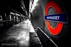 Bermondsey (Alex Chilli) Tags: london station train bench underground quiet metro empty seat tube platform bermondsey jubileeline chir
