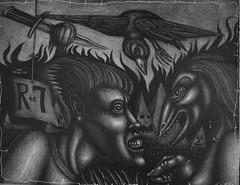 Passage into darkness (Tom McKee / Art Guy) Tags: art pen pencil ink drawing surrealism surreal surrealist narrative lowbrow visionary prisma visionaryart apocalypic narrativeart artvisionary
