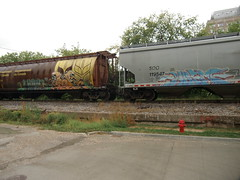09-01-10 (17) (This Guy...) Tags: road railroad car train graffiti box graf rail rr traincar boxcar graff 2010