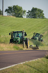 D6060_CM-136 (MoDOT Photos) Tags: green rural heavyequipment colecounty mowers centraldistrict modot safetygear bycathymorrison d6060