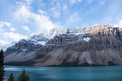 Icefields Parkway (flippers) Tags: trees mountain lake snow canada tree snowcapped alberta bowlake snowcap