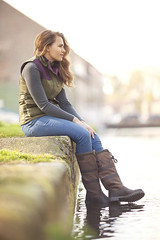 Molly in Rydale at Riverhead (AlexanderMoore) Tags: fashion river clothing model shoes boots yorkshire country footwear equestrian driffield rydale alexandermoore