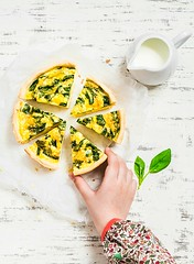 spinach and cheese pie... (sonja-ksu) Tags: family food cheese breakfast pie photography daughter pastries spinach