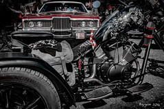 Big mouth and long teeth (ericbaygon) Tags: red black ford car bike rouge skull nikon tricycle voiture american moto biker trike vtwin vhicule amricaine nikonpassion d300s