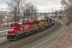 K408 at Christie Street. (sully7302) Tags: railroad cn train central nj trains amtrak transit penn locomotive erie cp ge lackawanna csx emd