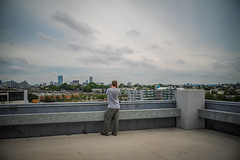 Top Floor (Evan's Life Through The Lens) Tags: life camera city travel summer hot wet glass rain weather clouds vintage lens fun photography drive weird friend warm day teddy minolta cloudy sony 28mm dry sunny adventure f28 2016 a7s