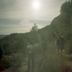 4.Arabi (motagirl2) Tags: diana lomography dianaf lomographydianaf spain murcia yecla arabi mediumformat 120mm kodak portra kodakportra wideangle squares cave mountain nature friends
