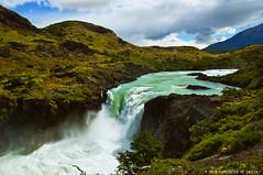 Salto Grande Waterfall (Priscila de Cssia) Tags: chile trip travel wild patagonia naturaleza mountains nature landscape waterfall nikon wildlife natureza trail torresdelpaine wilderness cachoeira torresdelpainenationalpark nikond90