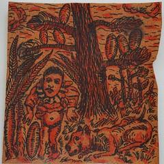 Rachitico con cane (Enrico Luigi Delponte) Tags: art arte kunst cork drawings disegni dessins sughero
