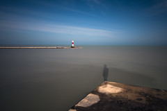 Lonely Point (FotodioxPro) Tags: blue sky lighthouse motion blur water wisconsin clouds concrete pier outdoor horizon ghost lakemichigan shore kenosha ndfilter newproduct landscapephotography lensadapter nd1000 fotodiox filtersystem autoadapter ultrawideanglelens 10stopnd fotodioxpro wonderpana freearc canon1124mm canonef1124mmf4l sonya7rii eftoemountadapter wonderpanaxl filterforcanon1124