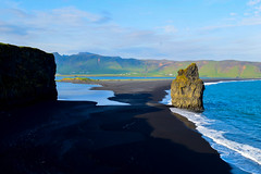 reynisfjara wide (kmccoolio) Tags: iceland nature travel cliffs cliff beach ocean sea sand rock landscape vk