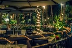 At the back of the Sheraton Waikiki hotel (Victor Wong (sfe-co2)) Tags: lighting orange usa yellow hawaii restaurant hotel amber waikiki led indoors honolulu sheraton